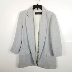 Zara Basic Collection Women Jacket Gray Blazer